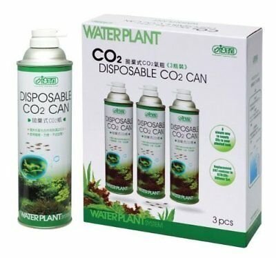 ISTA WATERPLANT DISPOSABLE CO2 CAN 3x BOTTLES LIVE TANK AQUARIUM PLANTS