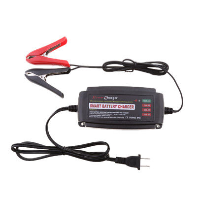 12V Smart Car Battery Charger Maintainer for Lead Acid Batteries