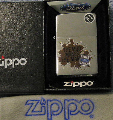 ZIPPO   FORD  Lighter  MUD MAKES THE MAN Built Tough  NEW OLD STOCK  Mint In Box