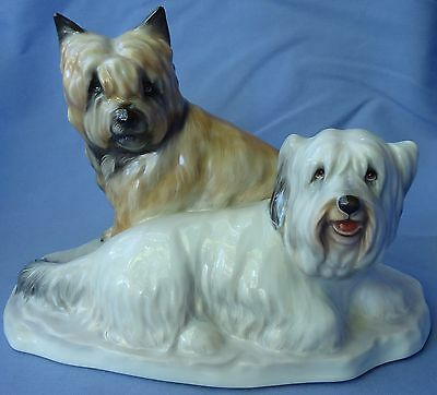 Skye Silky Terrier Briard Wheaten Dog Herend 8""