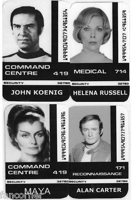 COSMOS 1999 lot 4 Cartes identifications  Koenig Russell Space 1999 id card lot