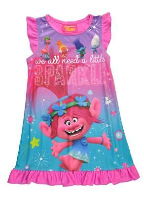 Trolls Toddler Girls Berry Pink Pajama Nighgown Size 2T 3T 4T $34