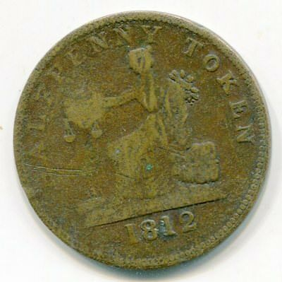 Canada, Lower half penny token 1812 LC-48A4   lotmar272