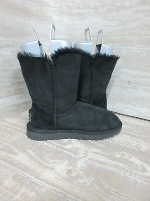 6b1270b933c UGG WOMEN'S BAILEY Button Bling Boots Suede Solid Black 1016553 Size: 8