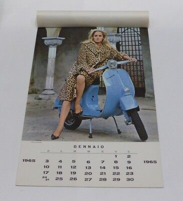 Calendario 1965 Piaggio Vespa Attrici Originale