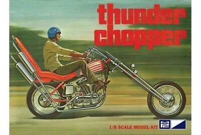 Thunder Chopper Custom Motorcycle 1/8 scale skill 3 MPC plastic model kit#835