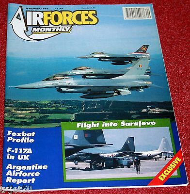 Air Forces Monthly Magazine 1992 September Ark Royal,Mig-25,F-117,Argentina