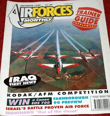 Air Forces Monthly Magazine 1990 September Israel,F-117A Nighthawk,USCG