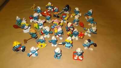 Smurf lot of 26 Smurfs Instant Collection Vintage Classic Display Figurines
