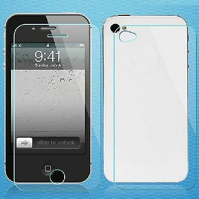 Front Back Tempered Glass Screen Protector Cover For Apple iPhone 4 4S 4G 4GS