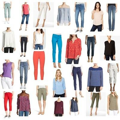 100 NYDJ Not Your Daughters Jeans Tops Pants Shirt Wholesale Lot Petite/Reg/Plus
