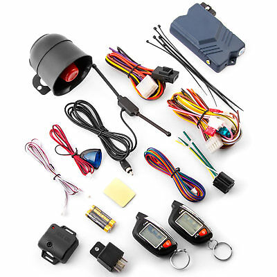 2 Way LCD Vehicle Car Alarm Keyless Entry Remote Start System Window Roll Up