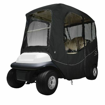 DLX GOLF CAR ENCLOSURE SHORT ROOF, Black - Classic# 40-054-330401-00