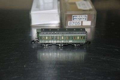 MARKLIN mini club # 8705 Z Scale Model Train Small 2nd Class Passenger Car BOXED