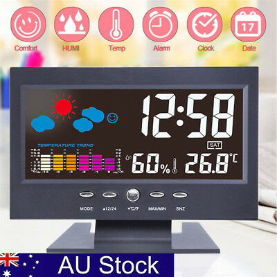 AU!Digital Wireless LCD Home Thermometer Hygrometer Temperature Humidity Meter