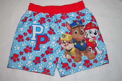 bcd5ff721b91f NICK PAW PATROL Boys Swim Trunks Size 7 Swimwear New 4th Blue Chase ...