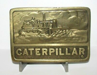 Caterpillar Cat D8 D9 D4 Crawler Tractor Bulldozer Belt Buckle 1975 Adezy Denver