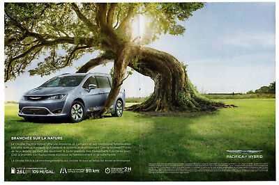 2017 CHRYSLER Pacifica Hybrid Original centerfold Print AD French Canada Nature