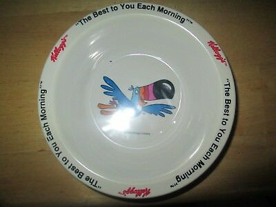 """1995 Kelloggs  """"Toucan Sam""""  cereal bowl new with liner"""