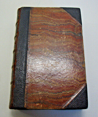 Antique leather bound book HOMEOPATHIC DOMESTIC MEDICINE
