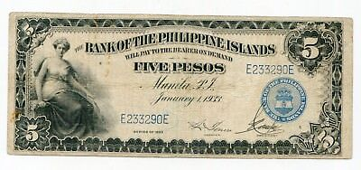 Philippines Bank  Pesos 1933 issue PICK 22 lotmar7019