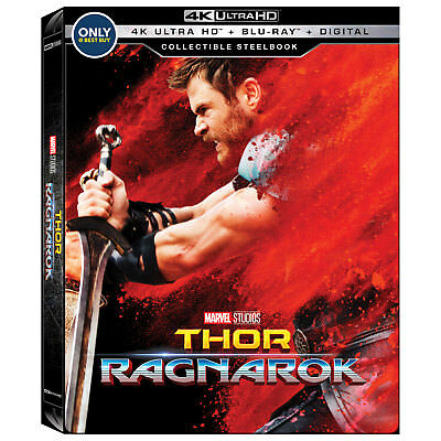 Thor Ragnarok 4K UHD Steelbook [Region A Blu-ray + Digital Download] NEW