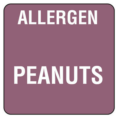 Food Allergen Labels Peanuts - Roll of 500 - Food Allergy Labels