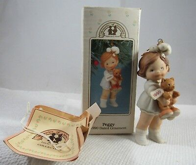 Enesco Memories Of Yesterday Peggy 1990 Limited Edition Porcelain Ornament