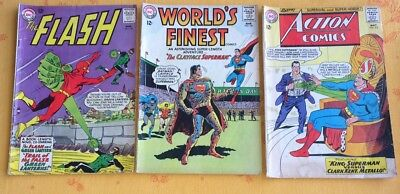 Flash comics 143, Action Comics 312, World's Finest 140: DC SIver Age