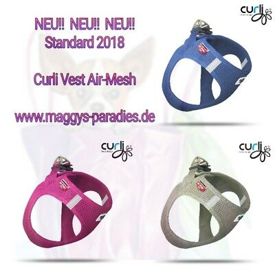 curli Geschirr Air Mesh NEU Fuchsia / Blue / Gray