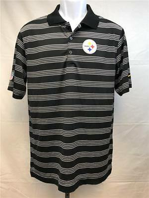 06162e9ce73 New Pittsburgh Steelers Mens Size S Small Black Button Polo Dri-Fit Nike  Shirt