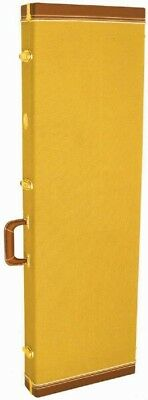 MBT Universal Hardshell Wood Electric Guitar Case - Tweed Yellow Covering