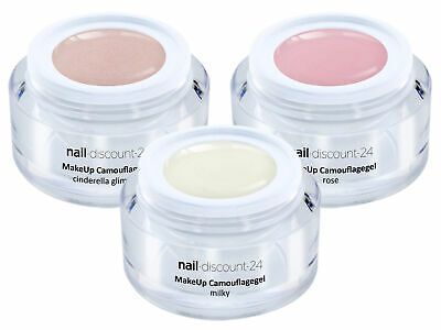 MakeUp Camouflagegel Farb Gel Set hell 3x5ml BabyBoomer rose milky cinderella