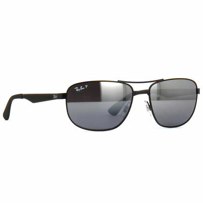 790d8e3485 Ray Ban RB 3528 006 82 Black Polarized Mirrored Lens Sunglasses Authentic  New