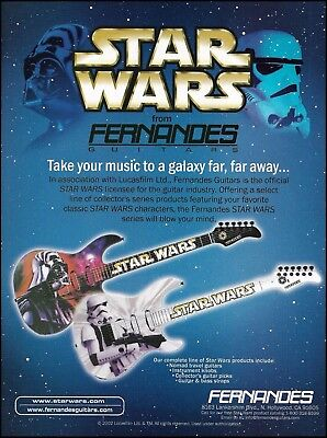 2002 Fernandes Star Wars Series Darth Vader guitar ad 8 x 11 advertisement