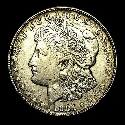 1921 S ~**ABOUT UNCIRCULATED AU**~ Silver Morgan Dollar Rare US Old Coin! #R75