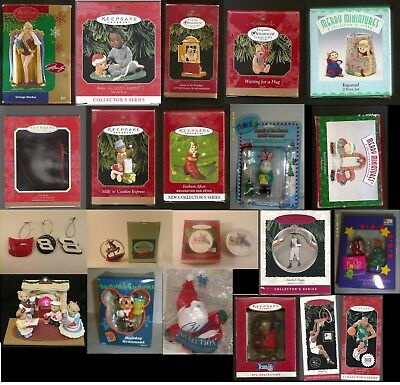 Christmas Ornaments - Hallmark DISNEY Marilyn Monroe NASCAR Coke NFL MLB NBA +++
