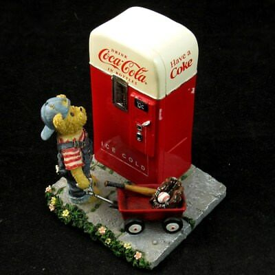 Boyds Bears & Friends Bearstone Billy the Pause that Refreshes Figure Coca Cola