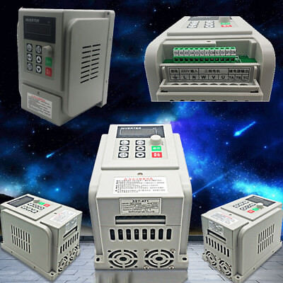 1* 220V 1.5KW VFD Variable Frequency Drive Inverter Speed Controller Converter