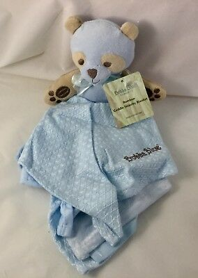 New Bubba Blue Bamboo Cuddle Security Blanket Baby Gift Soft Warm Cuddly Blue