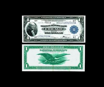 $1 1918 Large Size  Federal Reserve Bank  Note~~