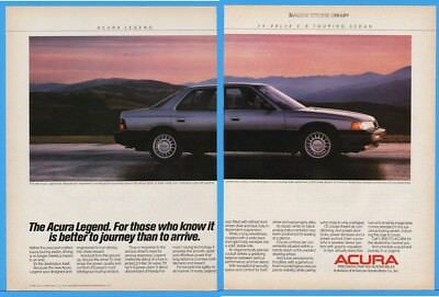 1986 Acura Legend Sedan 24 Valve V6 Better To Journey Than Arrive Honda Car Ad
