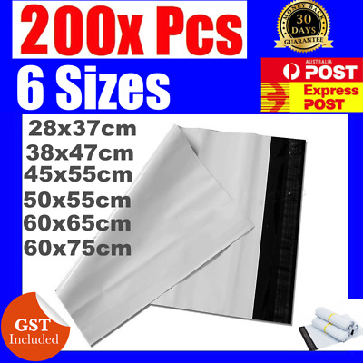 200 x  Poly Courier Bags Mailer Mailing Satchels 280mm x370mm To 600mm x 750mm
