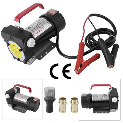New Portable Oil Diesel Fuel Transfer Pump Kit 11GPM 12V 175W Self Priming Red