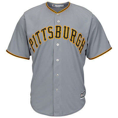 MLB Baseball Trikot Pittsburgh Pirates grau Cool base Majestic Jersey