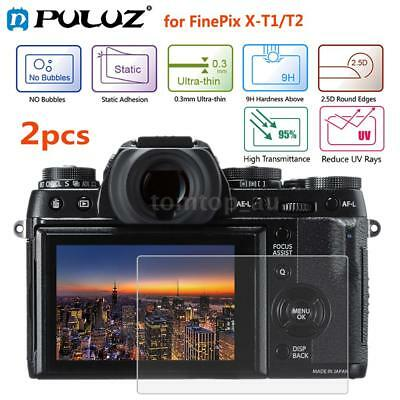 2* Puluz 9H 2.5D 0.3mm Tempered Glass Screen Protector for FinePix X-T1/T-2 S1P8