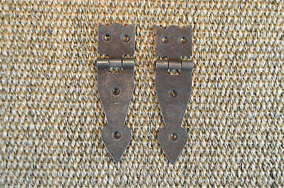 Pair of antique style box hinges chest hinge coffer trunk furniture hinges H7