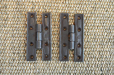 Pair of antique style H hinges Georgian corner cabinet furniture hinges H9