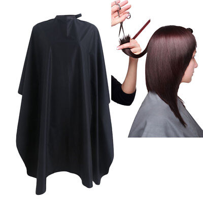 Salon Waterproof Hair Cut Hairdressing Hairdresser Barbers Cape Gown Cloth Black