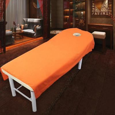 Orange Soft Beauty Massage SPA Treatment Bed Table Cover Sheets With Hole
